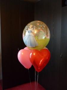 ballon hélium anniversaire bubble princesse soignies le p'tit poucet